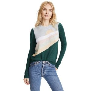 WILDFOX Sunshine Lou Pullover knit Sweater M New